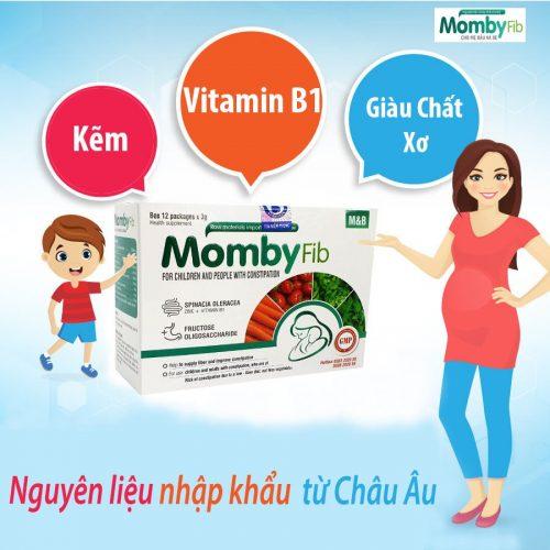 VẠCH TRẦN cốm vi sinh Momby fib chữa táo bón cho trẻ có tốt không? Mua ở đâu giá tốt?