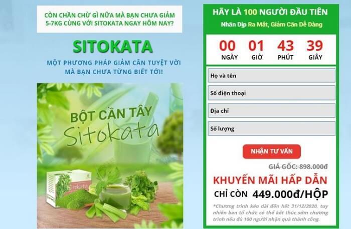 Giá bột cần tây Sitokata