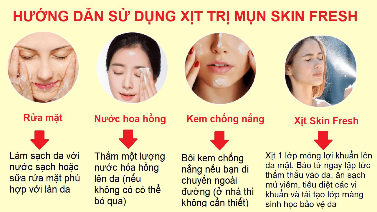 Hướng-dẫn-sử-dụng-xịt-lợi-khuẩn-trị-mụn-Skin-Fresh