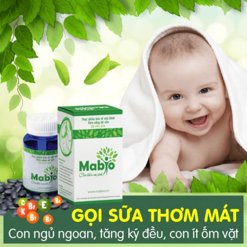 Viên uống lợi sữa Mabio có thực sự kích sữa tràn trề, sánh mịn không?
