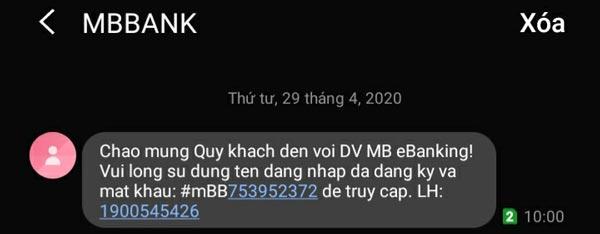 App-mbbank-sms