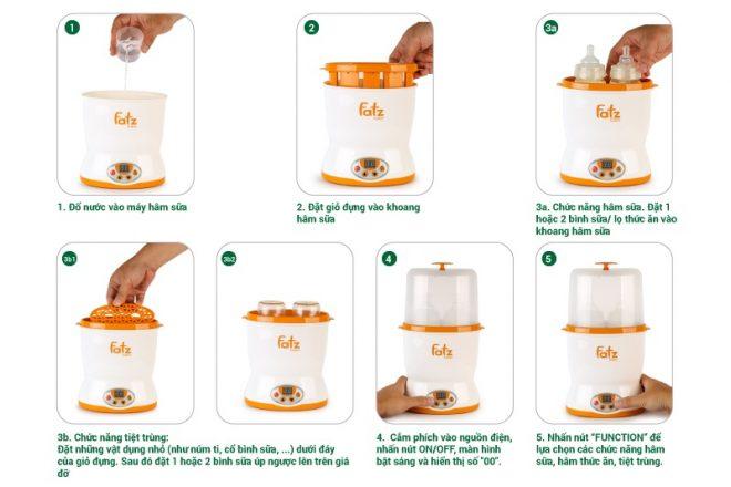 Cách-sử-dụng-Máy-hâm-sữa-2-bình-cổ-rộng