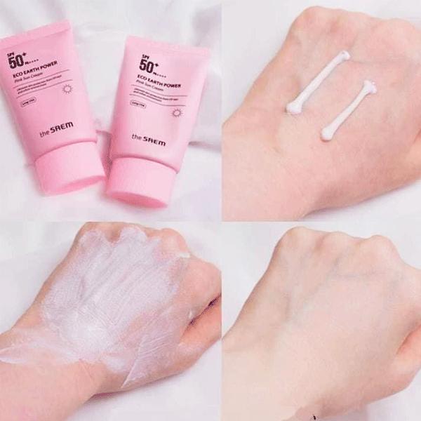 kem-chong-nang-the-saem-eco-earth-power-pink-sun-cream-spf50-mau-hong