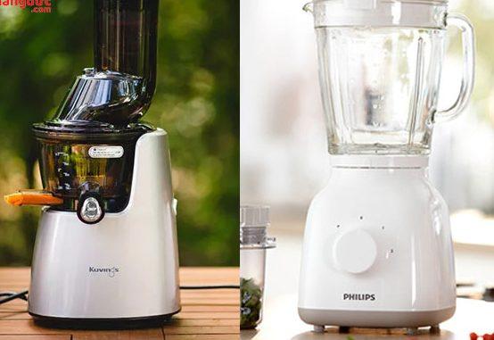 Khác biệt giữa máy xay sinh tố và máy ép thực phẩm