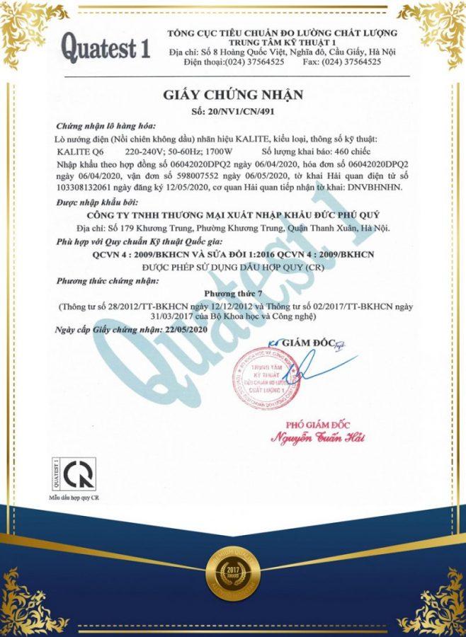 giay-chung-nhan-noi-chien-khong-dau-kalite-q6-nd